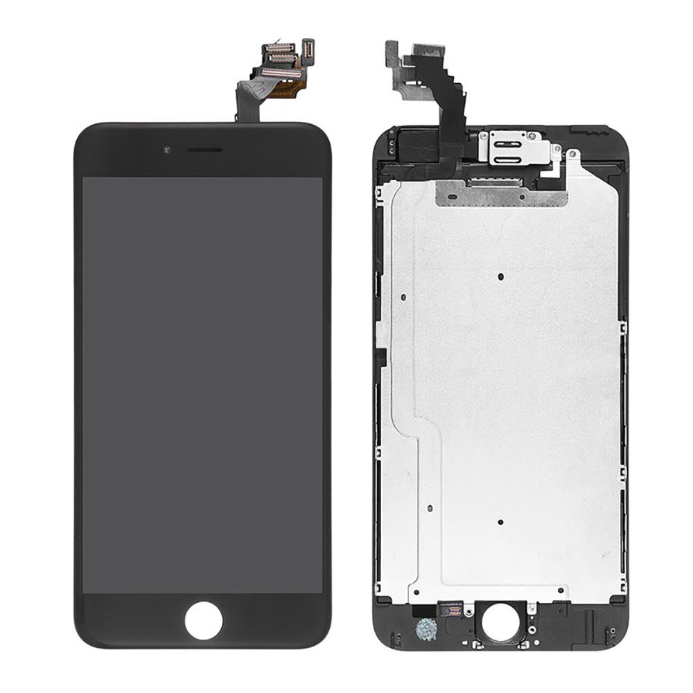 the latest 9fa3c 903f9 iPhone 6 Plus Premium Quality Black LCD and Digitizer Glass Screen  Replacement with Small Parts