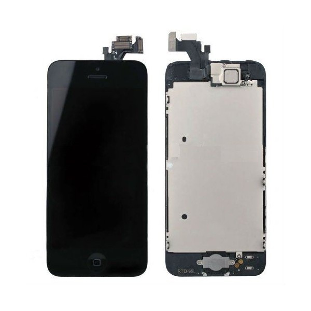 brand new 20edf ffe98 iPhone 5 Premium Black LCD and Digitizer Glass Screen Replacement with  Small Parts