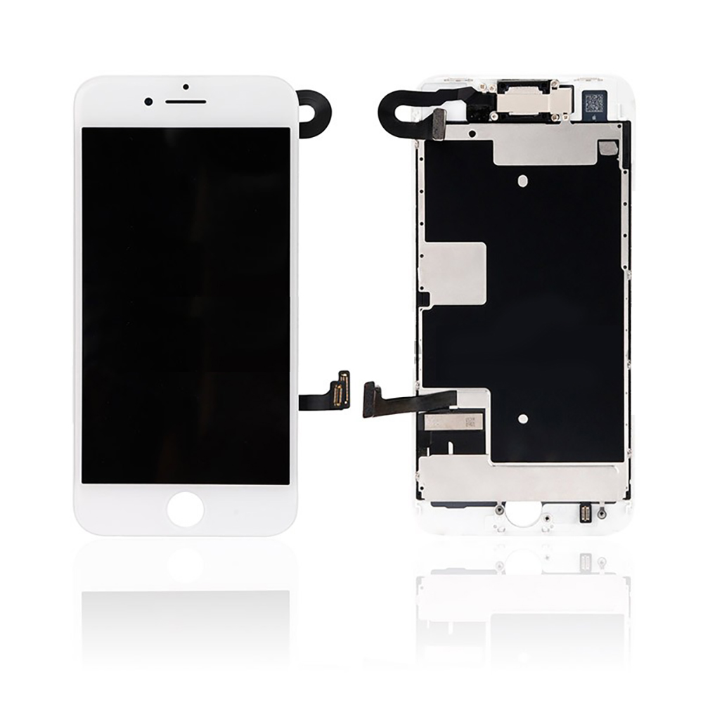 quality design fc524 92d21 iPhone 8 LCD and Digitizer Glass Screen Replacement with Small Parts  (White) (PREMIUM)