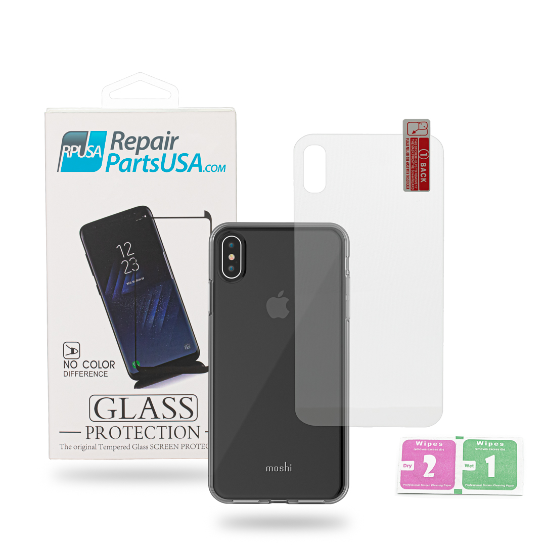 pretty nice df500 2b25c iPhone XS MAX Back Tempered Glass Screen Protector